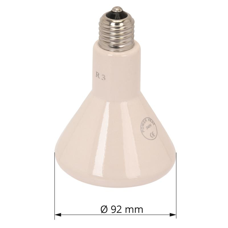 Infrared Ceramic Heat Bulb Quot Powerheat Quot For Repltiles Poultry 250w E27