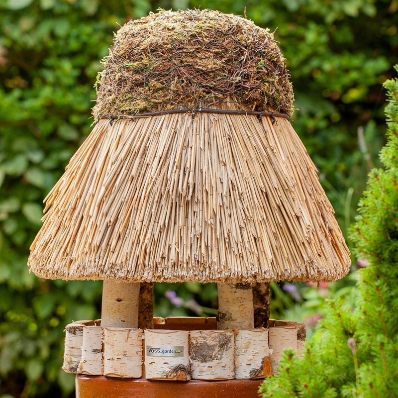 Voss Garden Bird Feeder Quot Amrum Quot Round Thatched Roof 216 50cm
