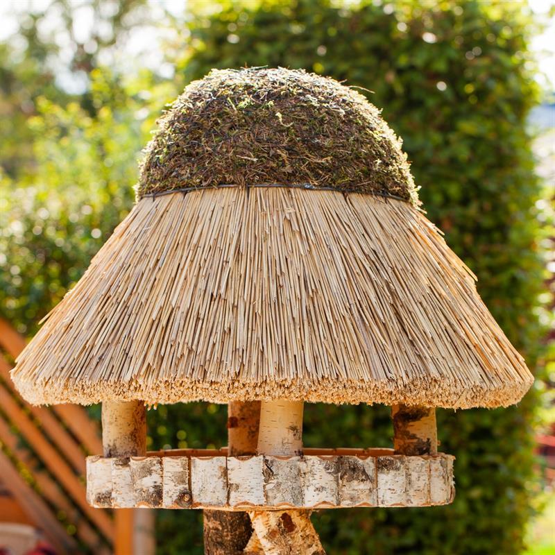 Voss Garden Bird Feeder Quot F 246 Hr Quot Round Thatched Roof 216 80cm