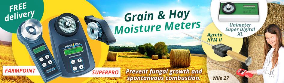Grain & Hay Moisture Meters