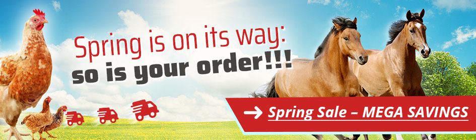 Spring is on its way: so is your order!